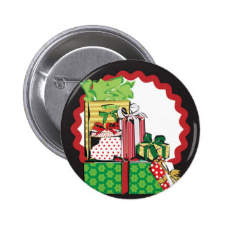 Stack of Holiday Gifts 2 Inch Round Button