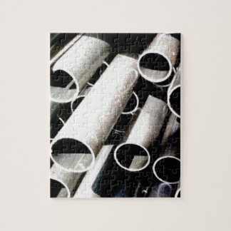 stack of metal tubes jigsaw puzzle