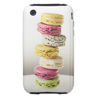 Stack of vibrant macaroons iPhone 3 tough covers