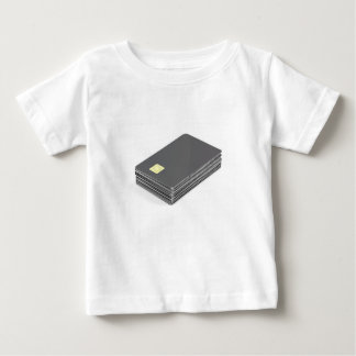 Stack with blank plastic cards with chip baby T-Shirt