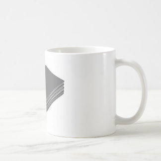 Stack with blank plastic cards with chip coffee mug