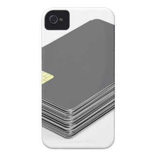 Stack with blank plastic cards with chip iPhone 4 Case-Mate cases