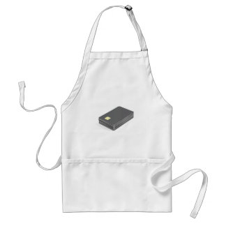 Stack with blank plastic cards with chip standard apron