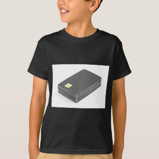 Stack with blank plastic cards with chip T-Shirt