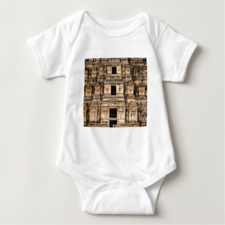stacked ancient building baby bodysuit