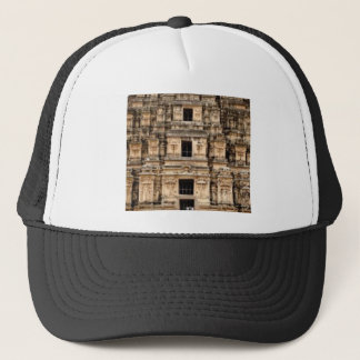 stacked ancient building trucker hat