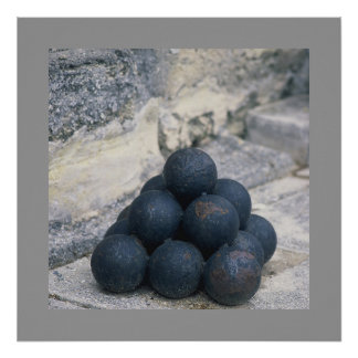 Stacked Cannon Balls Poster