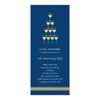 Stacked Champagne Corporate/Business Party Invite