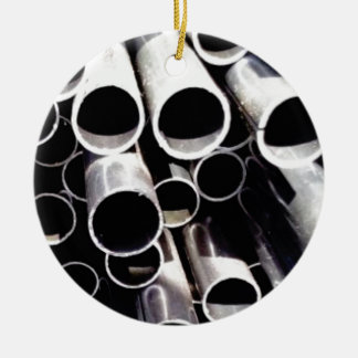 stacked circles of steel ceramic ornament