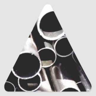 stacked circles of steel triangle sticker