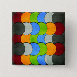 Stacked Circles-Textured by Shirley Taylor 2 Inch Square Button