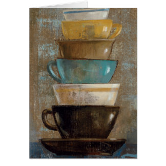 Stacked Coffee Cups Card