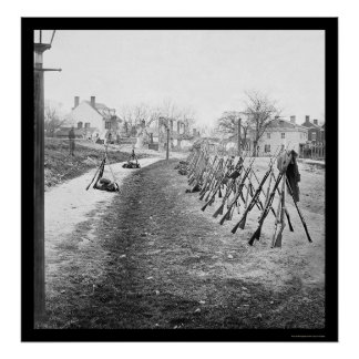 Stacked Federal Rifles in Petersburg, VA 1865 Poster