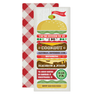 Stacked Hamburger Cookout Invitation