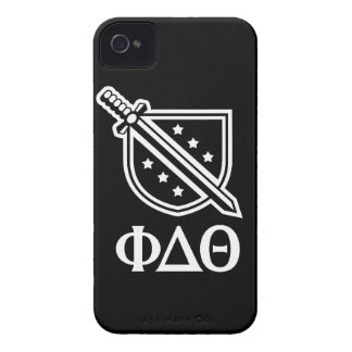 Stacked Logo and Letters - White 2 iPhone 4 Case-Mate Case