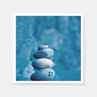 Stacked pebbles disposable napkin