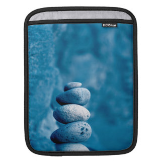 Stacked pebbles iPad sleeve