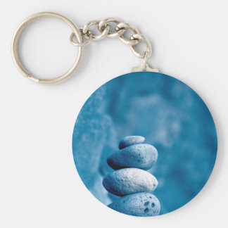 Stacked pebbles keychain
