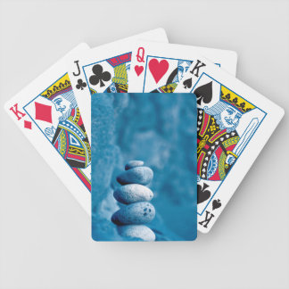 Stacked pebbles poker deck