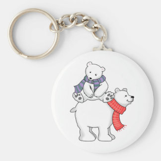 STACKED POLAR BEARS KEYCHAIN