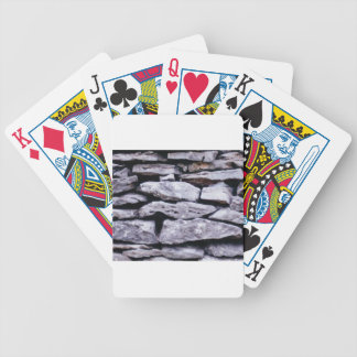 stacked rock wall bicycle playing cards
