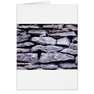 stacked rock wall card