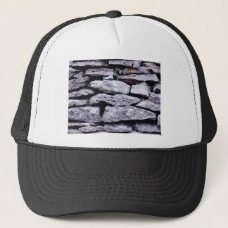 stacked rock wall trucker hat