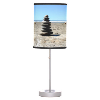Stacked Rocks on Beach Lamp
