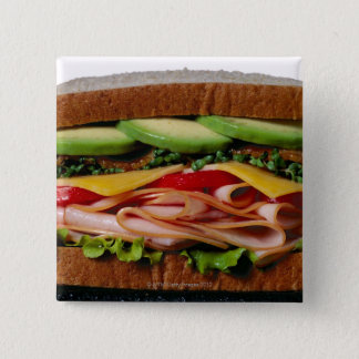 Stacked sandwich 2 inch square button