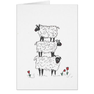 Stacked Sheep Card