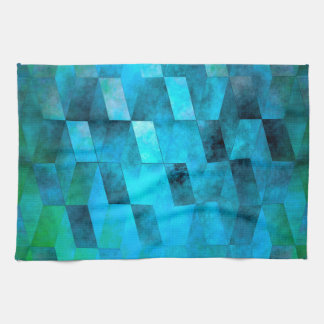 Stacked Sky (turquoise turquoise-green) Kitchen Towel