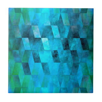 Stacked Sky (turquoise turquoise-green) Tile