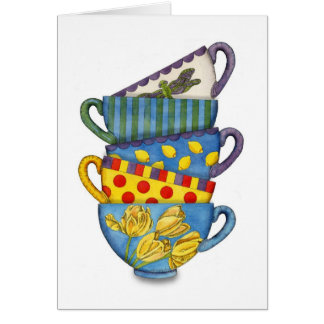 Stacked Teacups Card