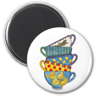 Stacked Teacups Magnet