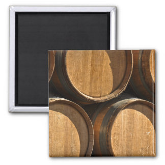Stacked Wine Barrels Magnet
