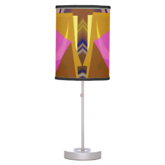Stacks Geometric Abstract in Pink Table Lamp