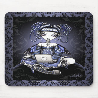 """""""Stacy"""" Cute Blue Lap Top Fairy Art Mousepad"""