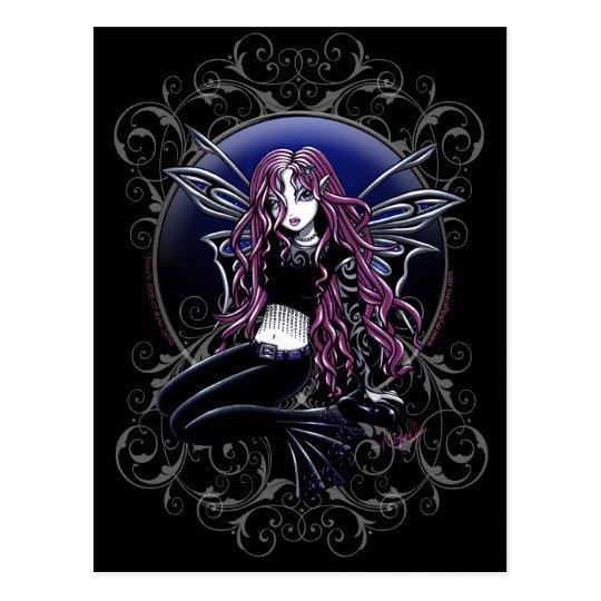 Stacy Magic Mirror Pink Fairy Fantasy Postcard