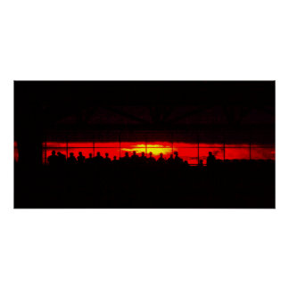 Stadium at Sunset Poster