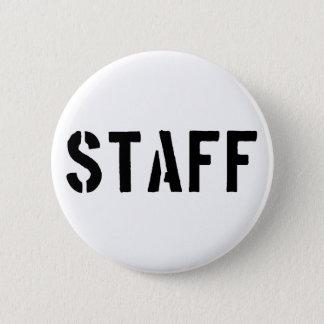 Staff black and white 2 inch round button