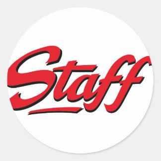 Staff Classic Round Sticker