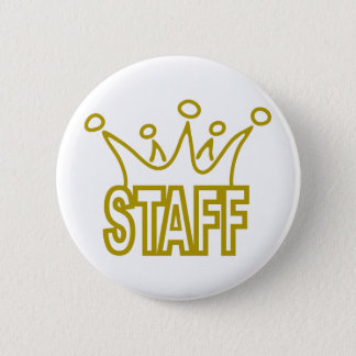 Staff-Crown.png 2 Inch Round Button