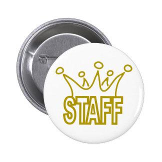 Staff-Crown.png 2 Inch Round Button