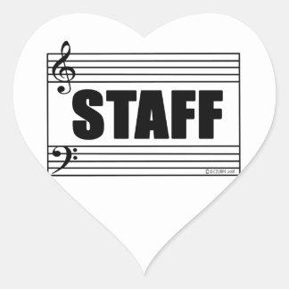Staff Heart Sticker