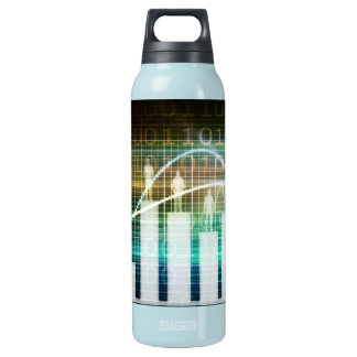 Staff Performance Appraisal with People Standing Insulated Water Bottle