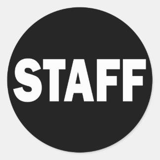 STAFF - WHITE CLASSIC ROUND STICKER
