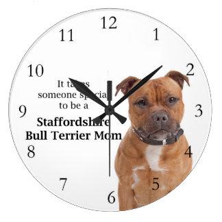 Staffie Mom Clock