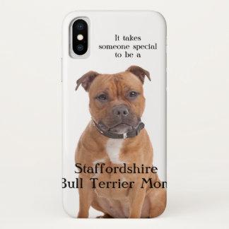 Staffie Mom iPhone X Case