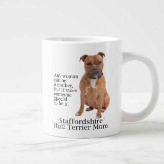 Staffie Mom Jumbo Mug