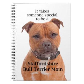 Staffie Mom Notebook